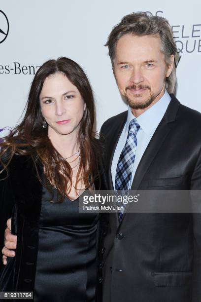 Lisa Nichols and Stephen Nichols attend Opening Night Preview Party Of the LA Antique Show Benefiting P.S. ARTS at Barker Hangar on April 21, 2010 in...