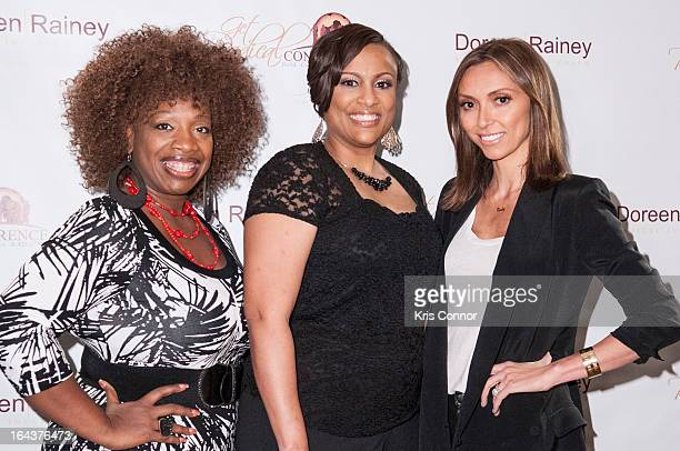 Lisa Nichols, Doreen Rainey and Guiliana Rancic pose for a photo during the 2013 Get Radical Women's Conference at Hyatt Regency Reston on March 23,...