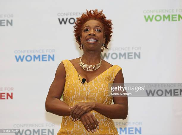 Lisa Nichols speaks onstage at the 'Breakout Session' during the 'Texas Conference For Women' 2016 at Austin Convention Center on November 15 2016 in...