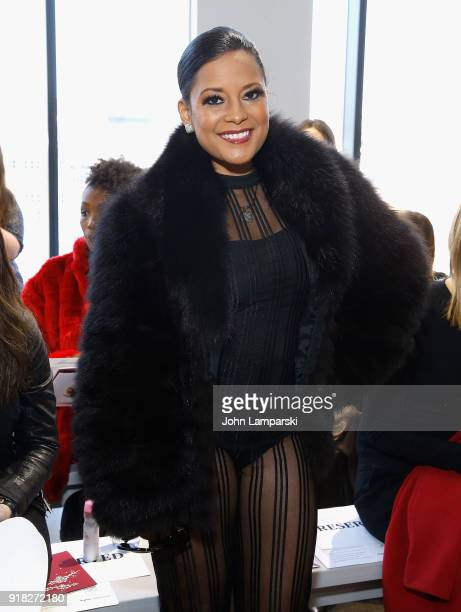 Lisa Nicole Carson attends Leanne Marshall show during February 2018 New York Fashion Week The Shows at Gallery II at Spring Studios on February 14...