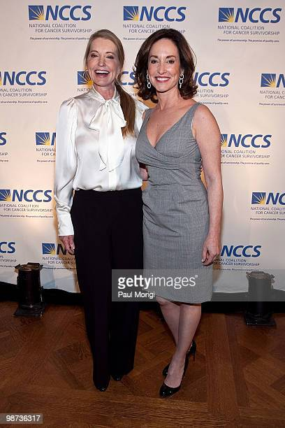Lisa Niemi and Lilly Tartikoff pose for a photo at the 2010 NCCS Rays of Hope awards gala at the Andrew W Mellon Auditorium on April 28 2010 in...