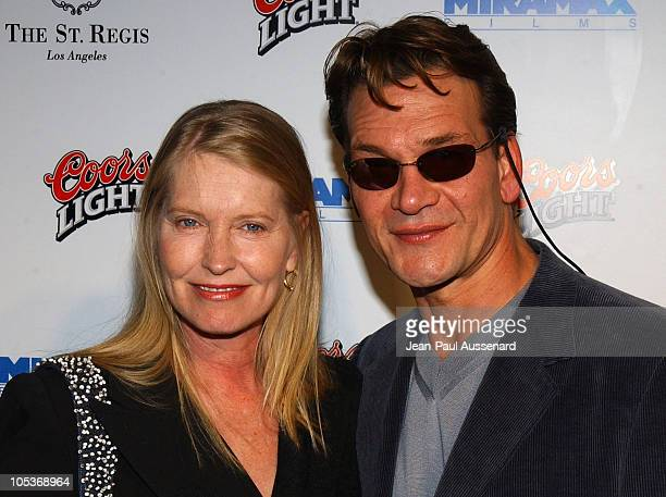 Lisa Niemi and Patrick Swayze during Miramax Annual PreOscar Party Arrivals at St Regis Hotel in Century City California United States