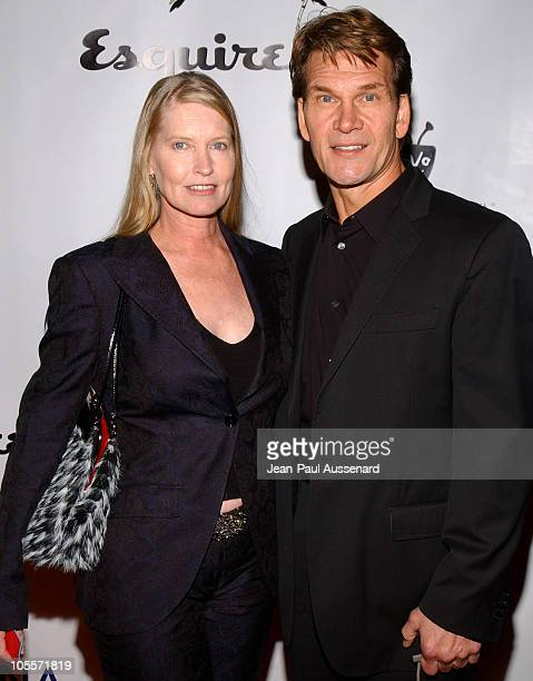Lisa Niemi and Patrick Swayze during Oceana's 2004 Partners Awards Gala Arrivals at Esquire House in Beverly Hills California United States