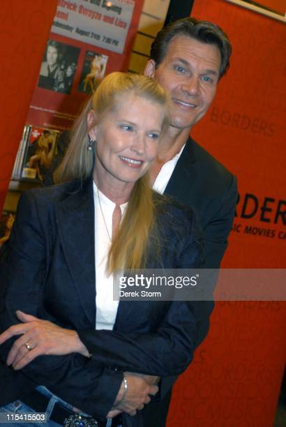 Lisa Niemi and Patrick Swayze during Patrick Swayze and Lisa Niemi Promote 'One Last Dance' at Borders in New York City August 24 2005 at Borders...