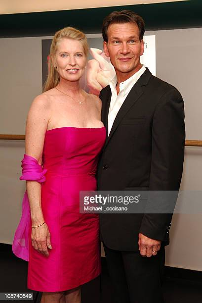 Lisa Niemi costar/cowriter/codirector and Patrick Swayze costar/cowriter/coproducer