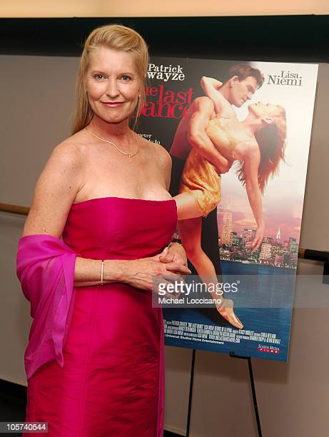 Lisa Niemi costar/cowriter/codirector during Patrick Swayze and Wife Lisa Niemi Celebrate Their New Film 'One Last Dance' at The Joyce Theater in New...