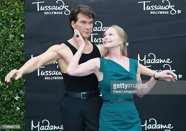 Lisa Niemi Swayze attends the unveiling of Patrick Swayze's wax figure at Madame Tussauds Hollywood on October 18 2011 in Hollywood California