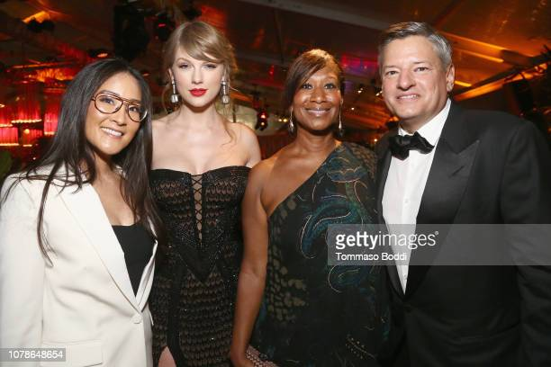 Lisa Nishimura Taylor Swift Nicole Avant and Netflix Chief Content Officer Ted Sarandos attend the Netflix 2019 Golden Globes After Party on January...