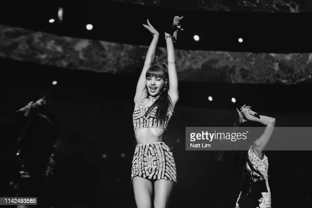 Lisa of BLACKPINK performs onstage during Weekend 1 Day 1 of the 2019 Coachella Valley Music and Arts Festival on April 12 2019 in Indio California