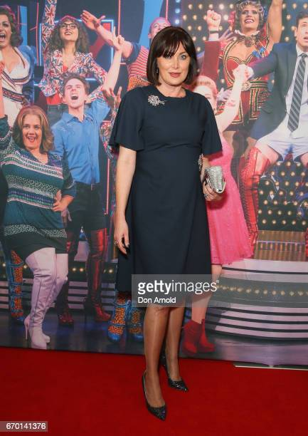 Lisa Oldfield arrives for the opening night of Cyndi Lauper's Kinky Boots at Capitol Theatre on April 19 2017 in Sydney Australia