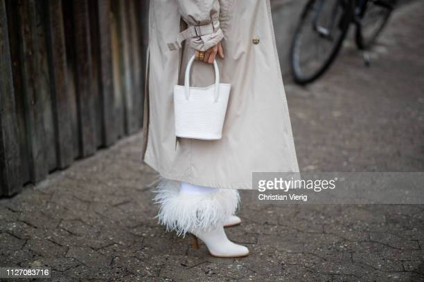 Lisa Olsson is seen outside Baum und Pferdgarten during the Copenhagen Fashion Week Autumn/Winter 2019 Day 3 on January 31 2019 in Copenhagen Denmark