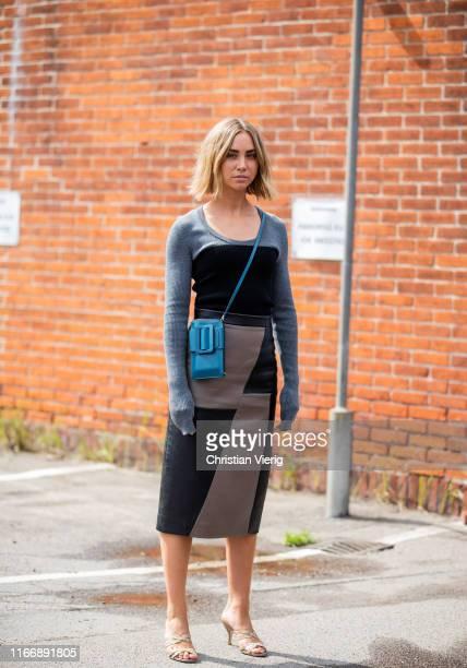 Lisa Olsson is seen outside By Malene Birger during Copenhagen Fashion Week Spring/Summer 2020 on August 08, 2019 in Copenhagen, Denmark.