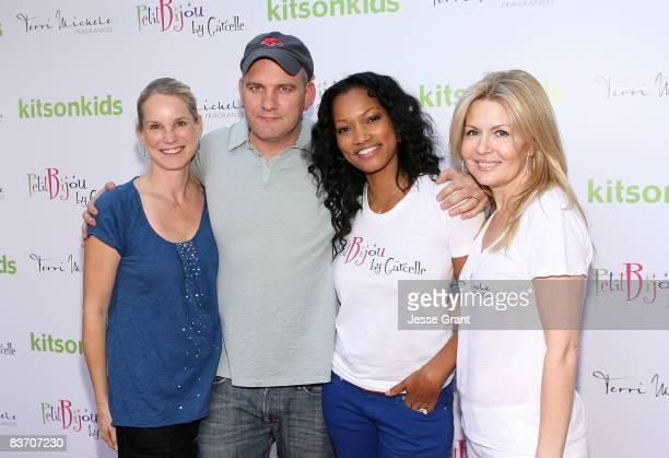 Lisa O'Malley, actor Mike O'Malley, actress Garcelle Beauvais-Nilon and Michele Kaplan attend the launch of Garcelle Beauvais-Nilon's new childrens...