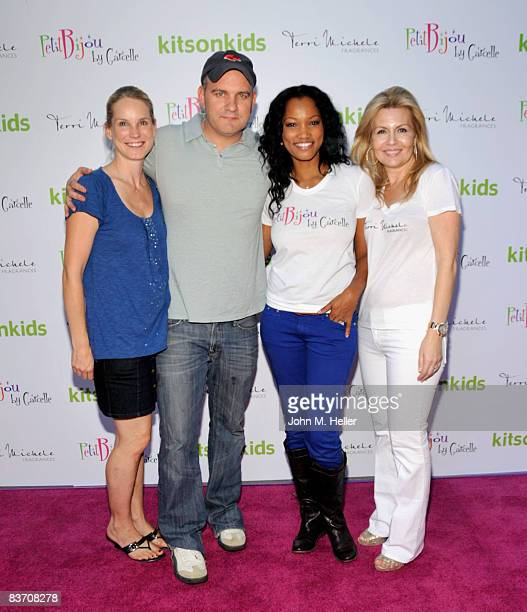 Lisa O'Malley, Mike O'Malley, Garcelle Beauvais-Nilon and Michelle Kaplan attend Kitson's Petit Bijou By Garcelle Launch Party on November 15, 2008...