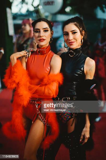 Lisa Origliasso and Jessica Origliasso of the The Veronicas attend LA Pride 2019 on June 09, 2019 in West Hollywood, California.