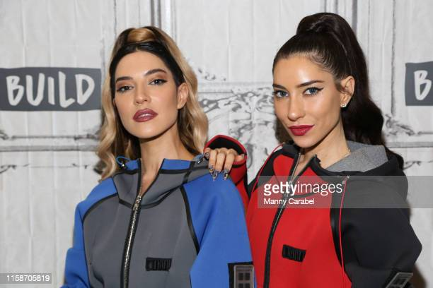Lisa Origliasso and Jessica Origliasso of The Veronicas attend Build Series to discuss their new song Think of Me at Build Studio on June 27 2019 in...
