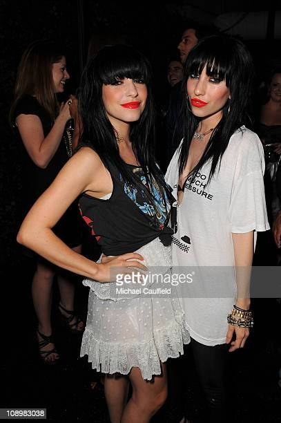 Lisa Origliasso and Jessica Origliasso of The Veronicas attend In Touch Weekly's ICONS IDOLS CELEBRATION with performances by Good Charlotte Leona...