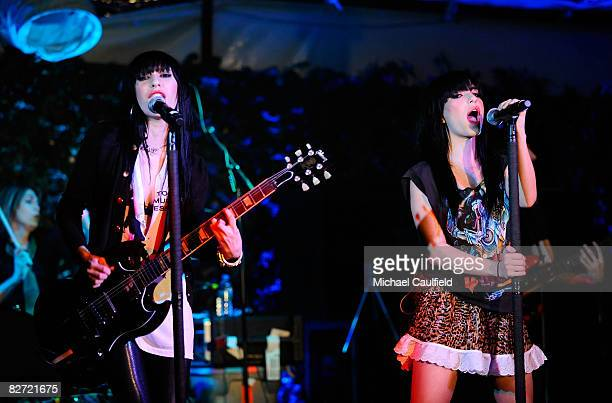 Lisa Origliasso and Jessica Origliasso of The Veronicas attend In Touch Weekly's Icons and Idols Celebration at Chateau Marmont on September 7 2008...
