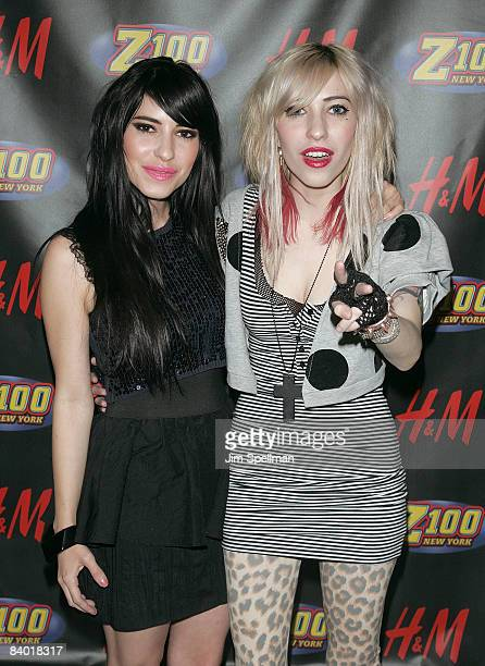 Lisa Origliasso and Jessica Origliasso of The Veronicas attend Z100s Jingle Ball 2008 Presented by HM at Madison Square Garden on December 12 2008 in...