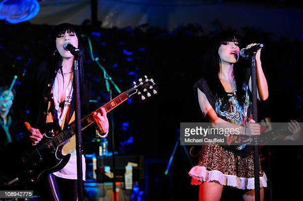 Lisa Origliasso and Jessica Origliasso of The Veronicas perform at In Touch Weekly's ICONS IDOLS CELEBRATION with performances by Good Charlotte...