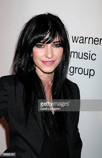 Lisa Origliasso of the band The Veronicas arrives at the Warner Music Group 2008 GRAMMY Awards after party held at Vibiana on February 10 2008 in Los...