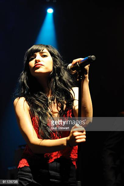 Lisa Origliasso of The Veronicas performs on stage at KOKO on September 24 2009 in London England