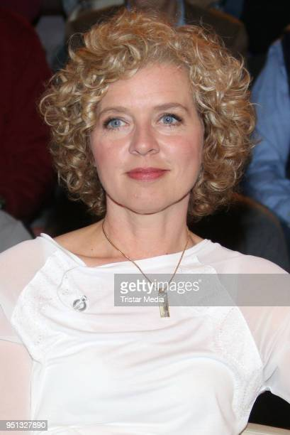 Lisa Ortgies during the 'Markus Lanz' TV show on April 25 2018 in Hamburg Germany