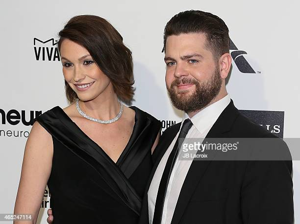 Lisa Osbourne and Jack Osbourne attend the 23rd Annual Elton John AIDS Foundation Academy Awards Viewing Party on February 22 2015 in West Hollywood...