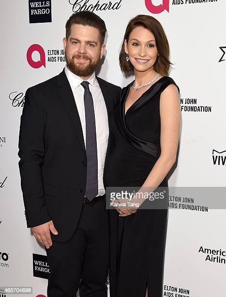 Lisa Osbourne and Jack Osbourne attend the Elton John AIDS Foundation's 23rd annual Academy Awards Viewing Party at The City of West Hollywood Park...