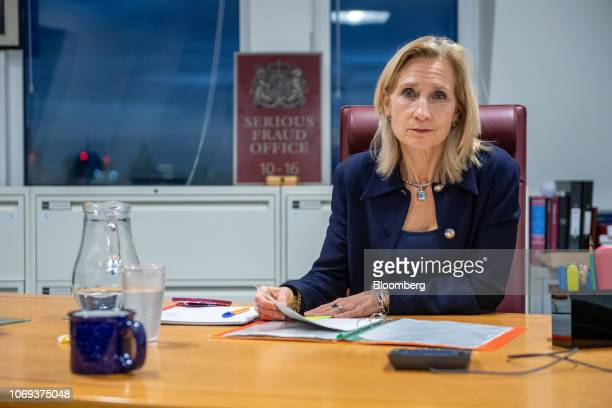 Lisa Osofsky, director of the Serious Fraud Office, poses for a photograph before an interview in her office in London, U.K., on Tuesday, Nov. 13,...