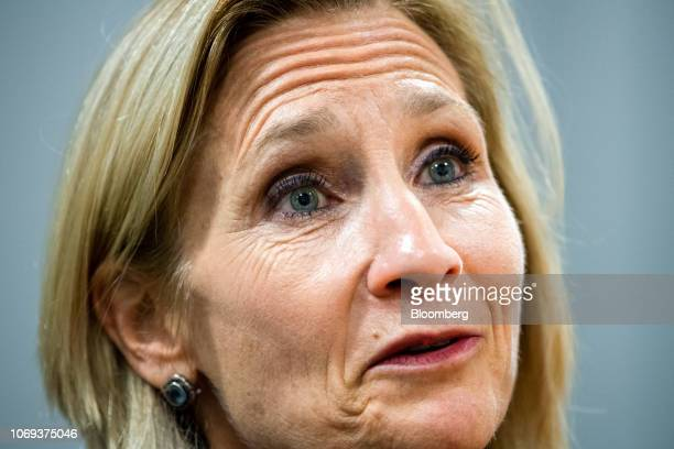 Lisa Osofsky, director of the Serious Fraud Office, speaks during an interview in her office in London, U.K., on Tuesday, Nov. 13, 2018. When the...