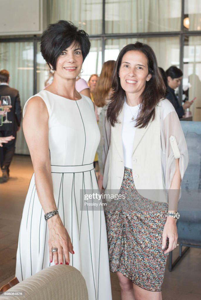 Lisa Oswald and Marrisa Karina attend Special Women's Power Lunch Hosted by Tina Brown at Spring Place on June 19, 2017 in New York City.