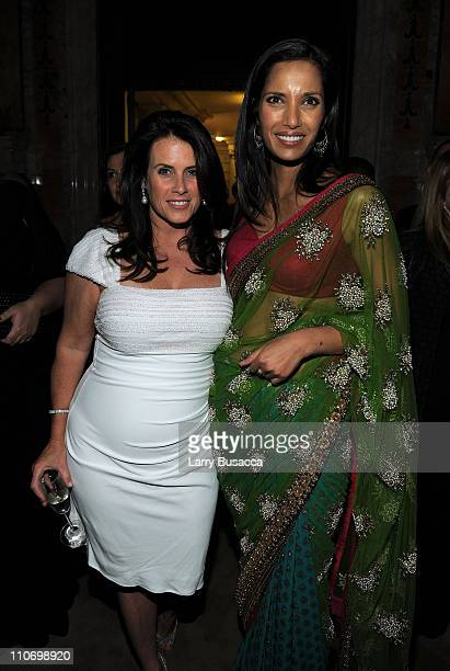 Lisa Oz and Padma Lakshmi attend the 3rd Annual Blossom Ball celebrated by The Endometriosis Foundation of America at New York Public Library Stephen...