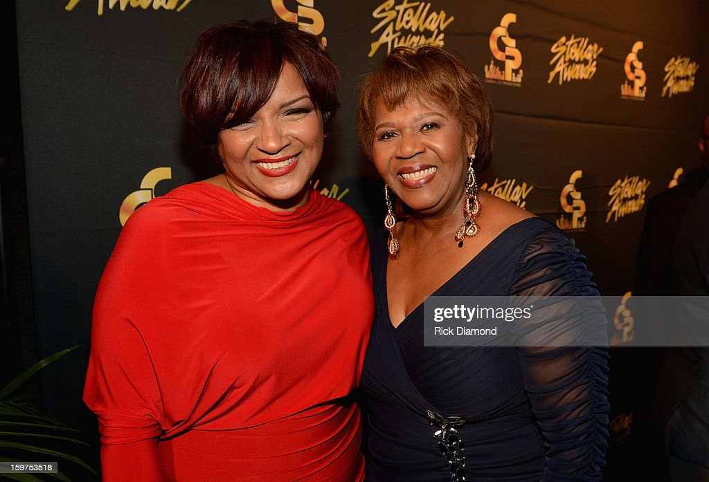 Lisa Page Brooks and Central City Productions President & COO Erma Davis attend to the 28th Annual Stellar Awards Red Carpet at Grand Ole Opry House on January 19, 2013 in Nashville, Tennessee.