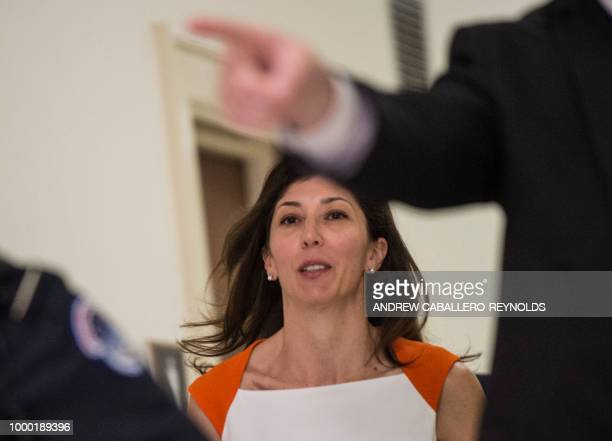 Lisa Page former legal counsel to former FBI Director Andrew Mc Cabe arrives on Capitol Hill July 16 2018 arrives to speak before the House Judiciary...