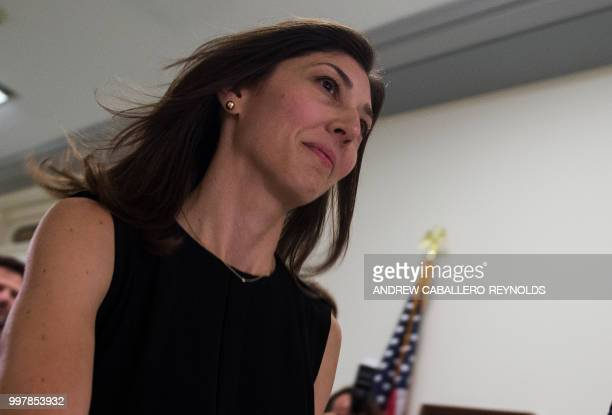 Lisa Page former legal counsel to former FBI Director Andrew Mc Cabe arrives on Capitol Hill July 13 2018 to provide closeddoor testimony about the...