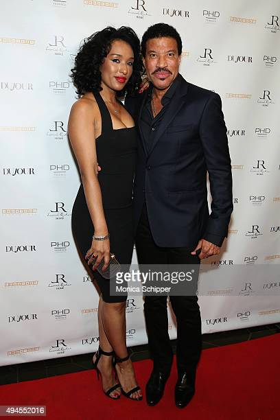 Lisa Parigi and Lionel Richie attend Jason Binn's DuJour Magazine and Lionel Richie Home Collection launch with IMPULSE International on October 27...