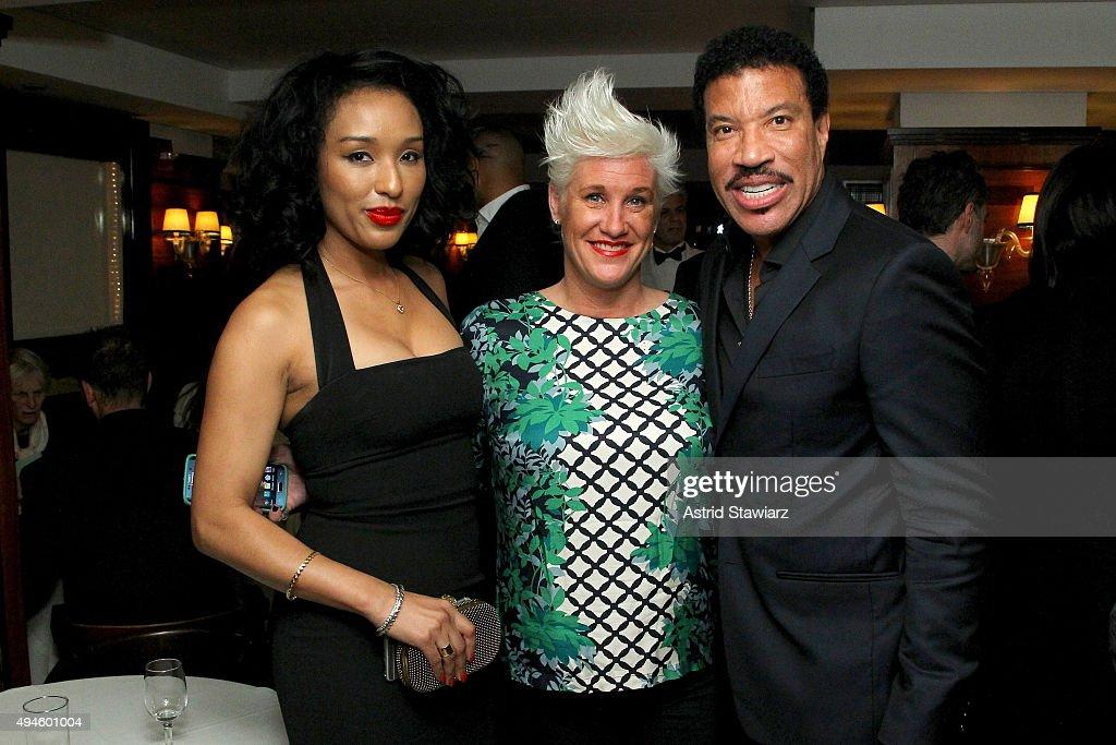 Lisa Parigi Chef Anne Burrell And Lionel Richie Attend Dujour S Jason Binn Dom Perignons