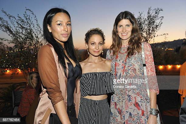 Lisa Parigi, fashion designer Nicole Richie and model Michelle Alves Oseary attend House of Harlow 1960 x REVOLVE on June 2, 2016 in Los Angeles,...