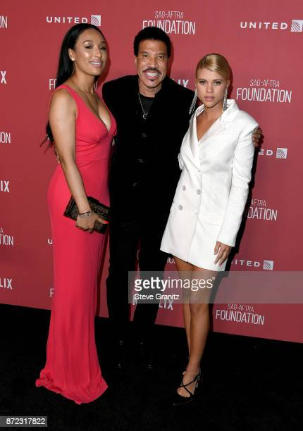 Lisa Parigi honoree Lionel Richie and Sofia Richie attend the SAGAFTRA Foundation Patron of the Artists Awards 2017 at the Wallis Annenberg Center...