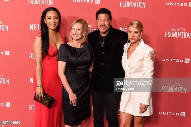 Lisa Parigi JoBeth Williams Lionel Richie and Sofia Richie attend SAGAFTRA Foundation Patron of the Artists Awards 2017 Arrivals at Wallis Annenberg...