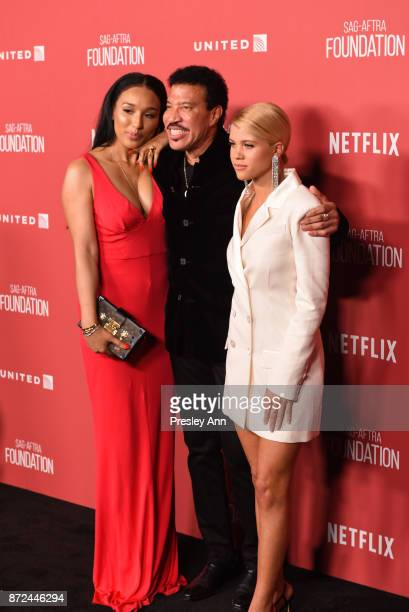 Lisa Parigi Lionel Richie and Sofia Richie attend SAGAFTRA Foundation Patron of the Artists Awards 2017 Arrivals at Wallis Annenberg Center for the...