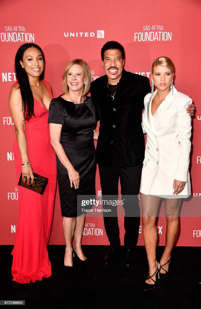 Lisa Parigi, SAG-AFTRA Foundation President JoBeth Williams, honoree Lionel Richie, and Sofia Richie attend the SAG-AFTRA Foundation Patron of the Artists Awards 2017 at the Wallis Annenberg Center for the Performing Arts on November 9, 2017 in Beverly Hills, California.