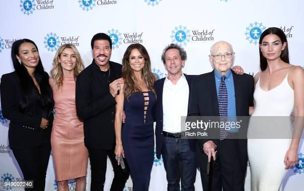 Lisa Parigi Veronica Grazer Lionel Richie Brooke Burke Brian Grazer Norman Lear and Lily Aldridge Followill attend the 2018 World of Children Hero...