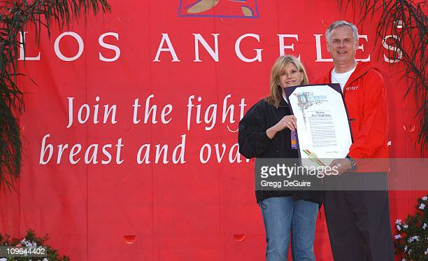 Lisa Paulsen coFounder of the Revlon Run/Walk and president/CEO of Entertainment Industry Foundation and Los Angeles Mayor James Hahn