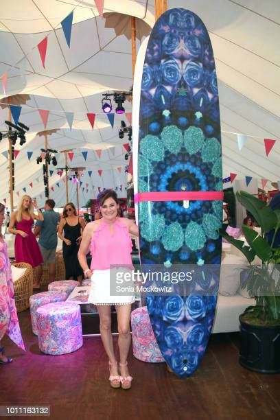 Lisa Pevaroff Cohn attends the2018 Hamptons Paddle Party for Pink to benefit the Breast Cancer Research Foundation on August 4 2018 in Sag Harbor New...