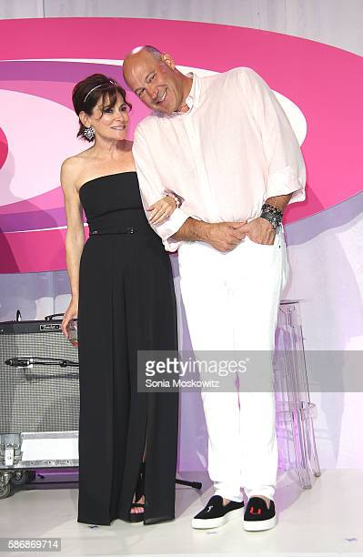 Lisa PevaroffCohn and Gary Cohn attend the 2016 Paddle Party for Pink at Fairview Farm on Mecox Bay on August 6 2016 in Bridgehampton New York