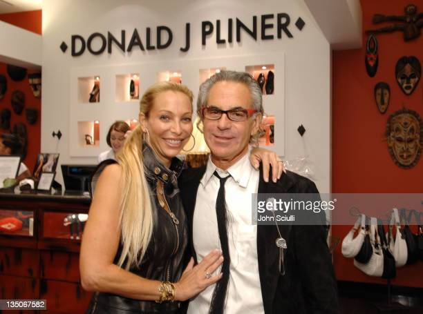 Lisa Pliner and Donald Pliner during Donald Pliner Cure Autism Now VIP Night in Los Angeles California United States