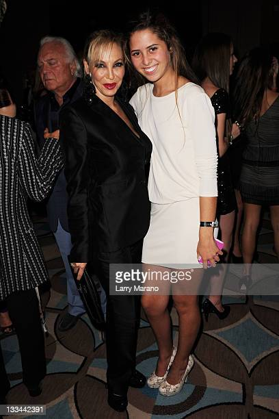 Lisa Pliner and Eunice Shriver attend The Fifteenth Annual Best Buddies Miami Gala at Fontainebleau Miami Beach on November 18 2011 in Miami Beach...