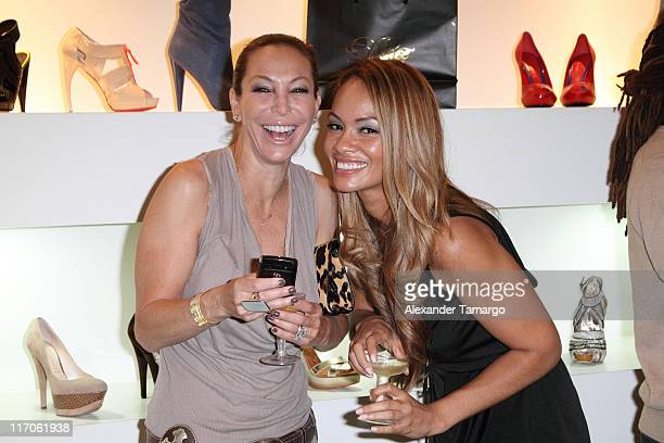 Lisa Pliner and Evelyn Lozada are seen at Dulce Shoe Boutique on May 6 2010 in Coral Gables Florida